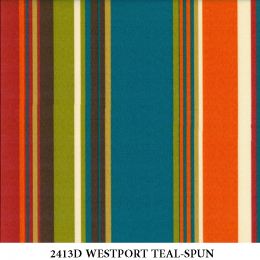 2413D WESTPORT TEAL STRIPE-SPUN