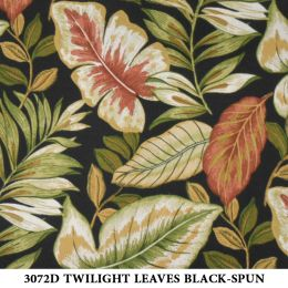 3072D TWILIGHT LEAVES BLACK-SPUN