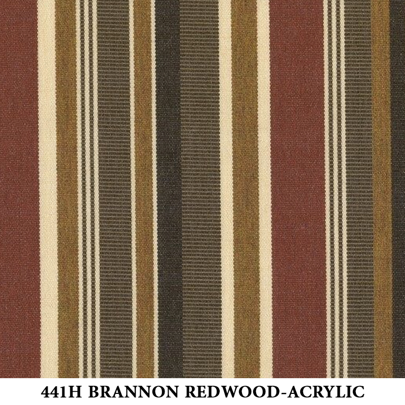 441H Brannon Redwood Stripe-Acrylic