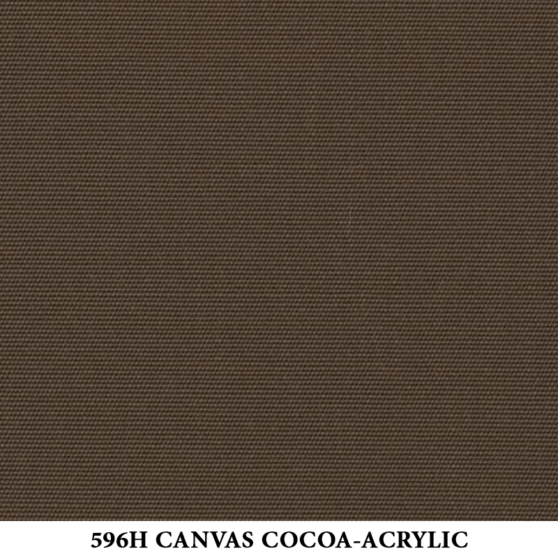 596H Canvas Cocoa-Acrylic