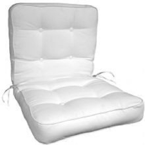 "Button Tufted Box Edge Chair Cushion 20""x39""x4"""