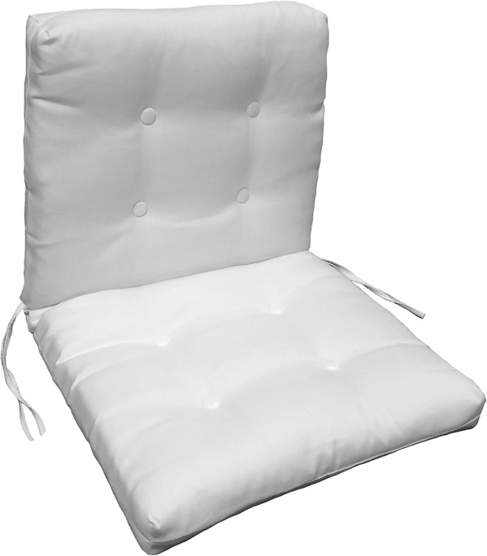 "Button Tufted French Edge Chair Cushion 22"" x 48"" x 4"""