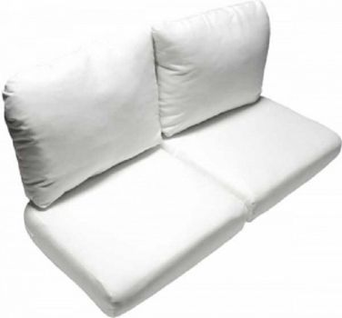 Deluxe Wicker Love Seat Replacement Cushion Set