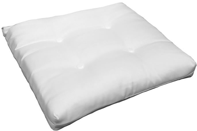 Ottoman Cushions French Edge with Buttons  (11 Sizes) (Size: 17x20 without Ties)